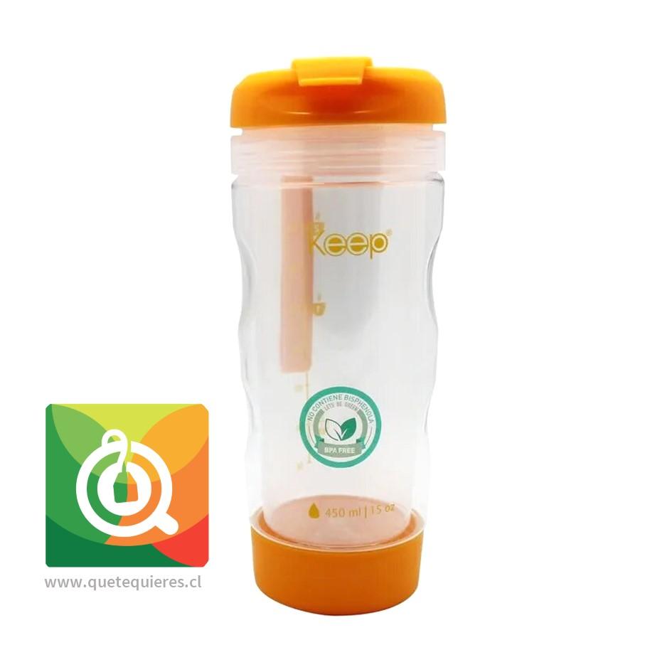 Keep Mug Infusor Para Té y Hierbas 450 ml Naranjo