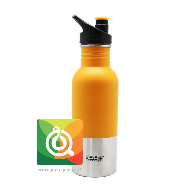 Keep Botella Acero con Pituto 600 ml Naranja