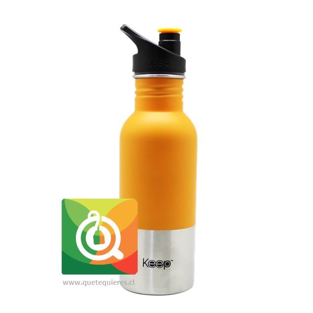 Keep Botella Acero con Pituto Naranja
