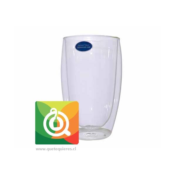 Glasso Vaso de Vidrio Doble Pared (2 unidades)