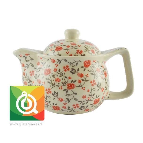 Tetera para té pequeña - Florsitas naranjas