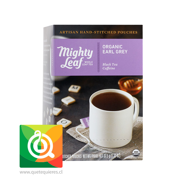 Mighty Leaf Té Negro Earl Grey Orgánico