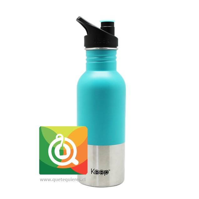 Keep Botella Acero con pituto 600 ml Celeste