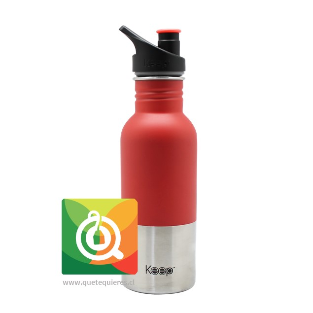 Keep Botella Acero con pituto 600 ml Fucsia