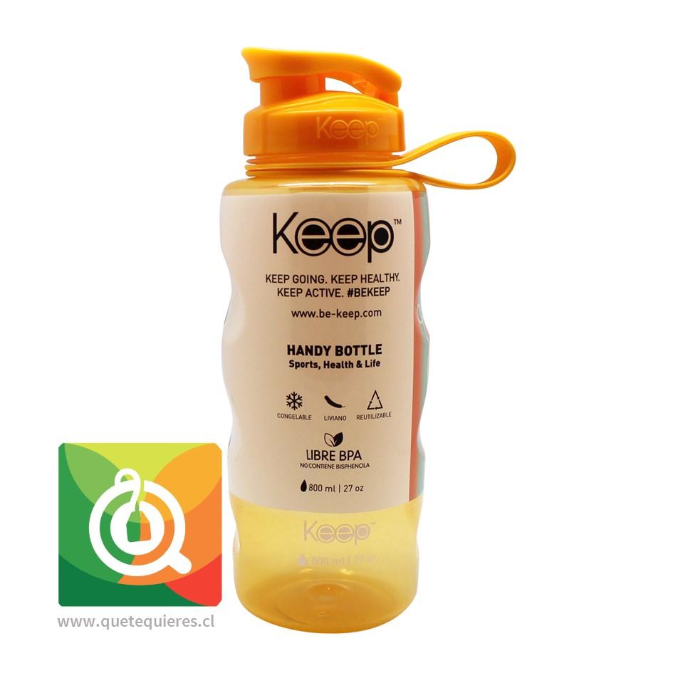 Keep Botella de agua Anatómica Amarilla 800 ml