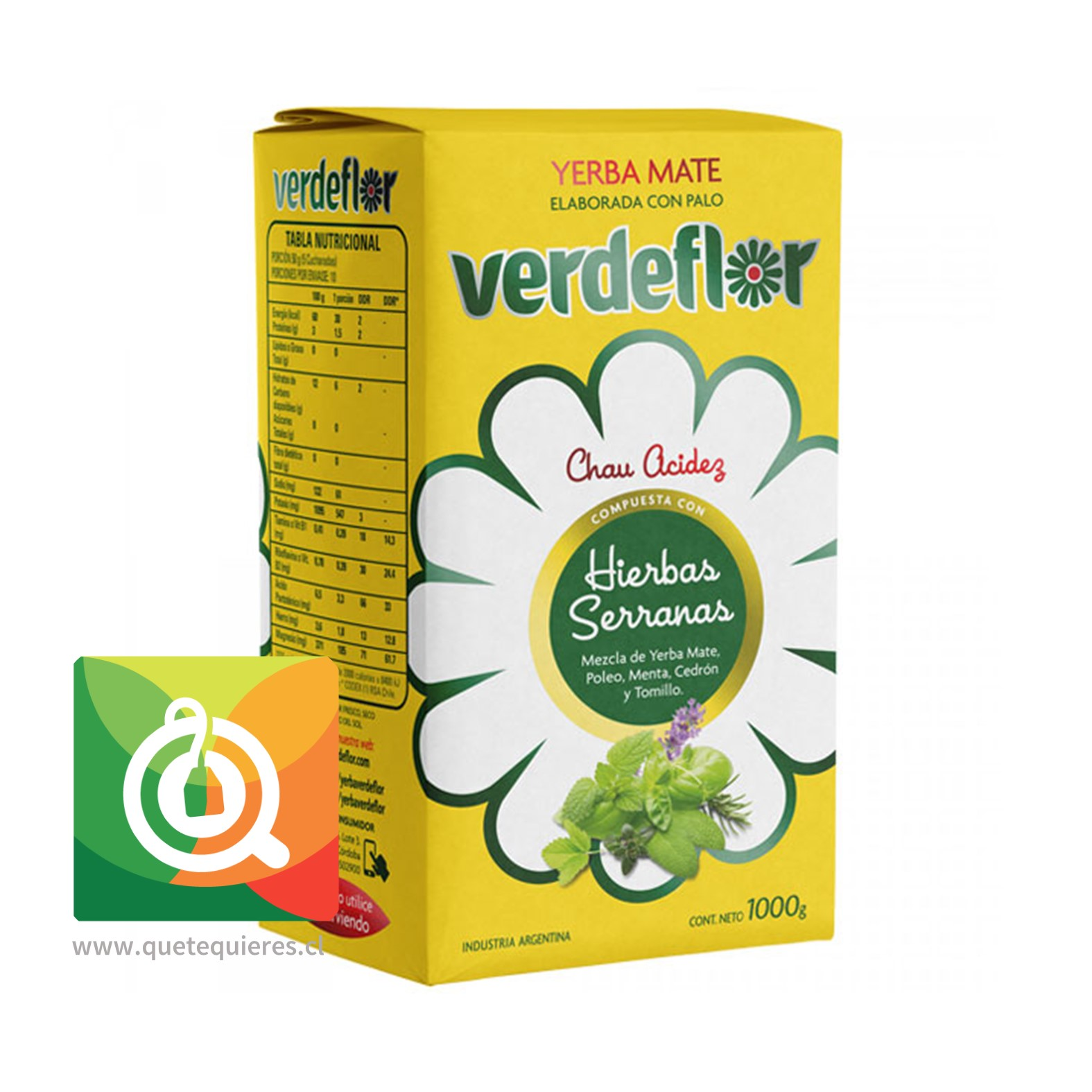 Verdeflor Yerba Mate Hierbas Serranas 1 kg