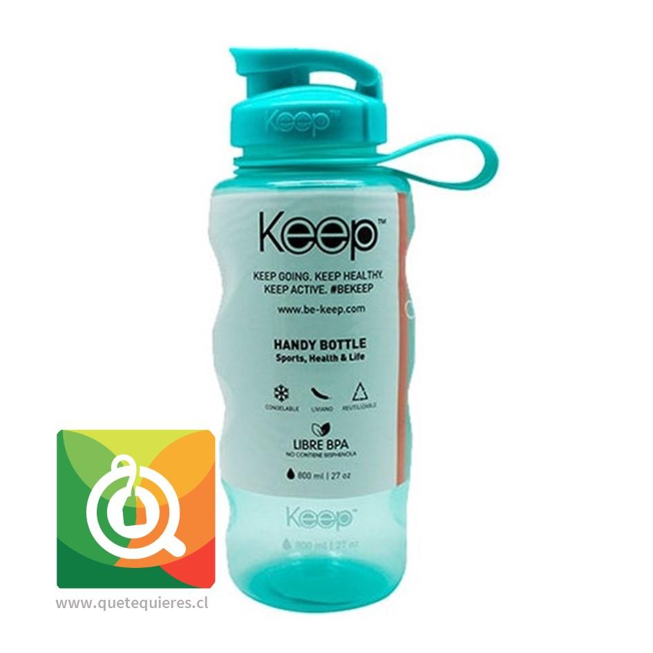 Keep Botella de agua Anatómica Verde Agua 800 ml