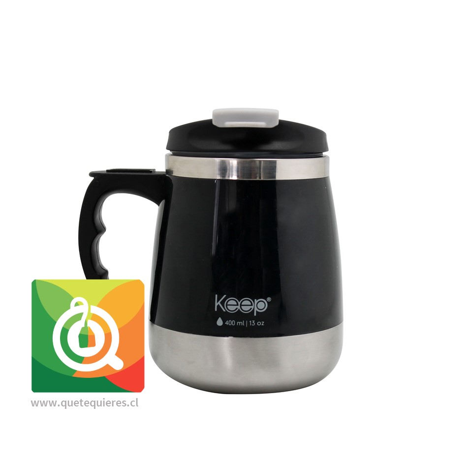 Keep Mug Taza Outdoor 400 ml Negra