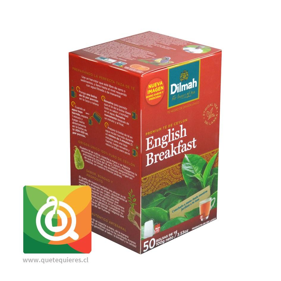 Dilmah Té Negro English Breakfast 50 bolsitas