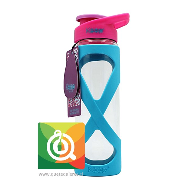 Keep Botella de vidrio 532 ml Celeste