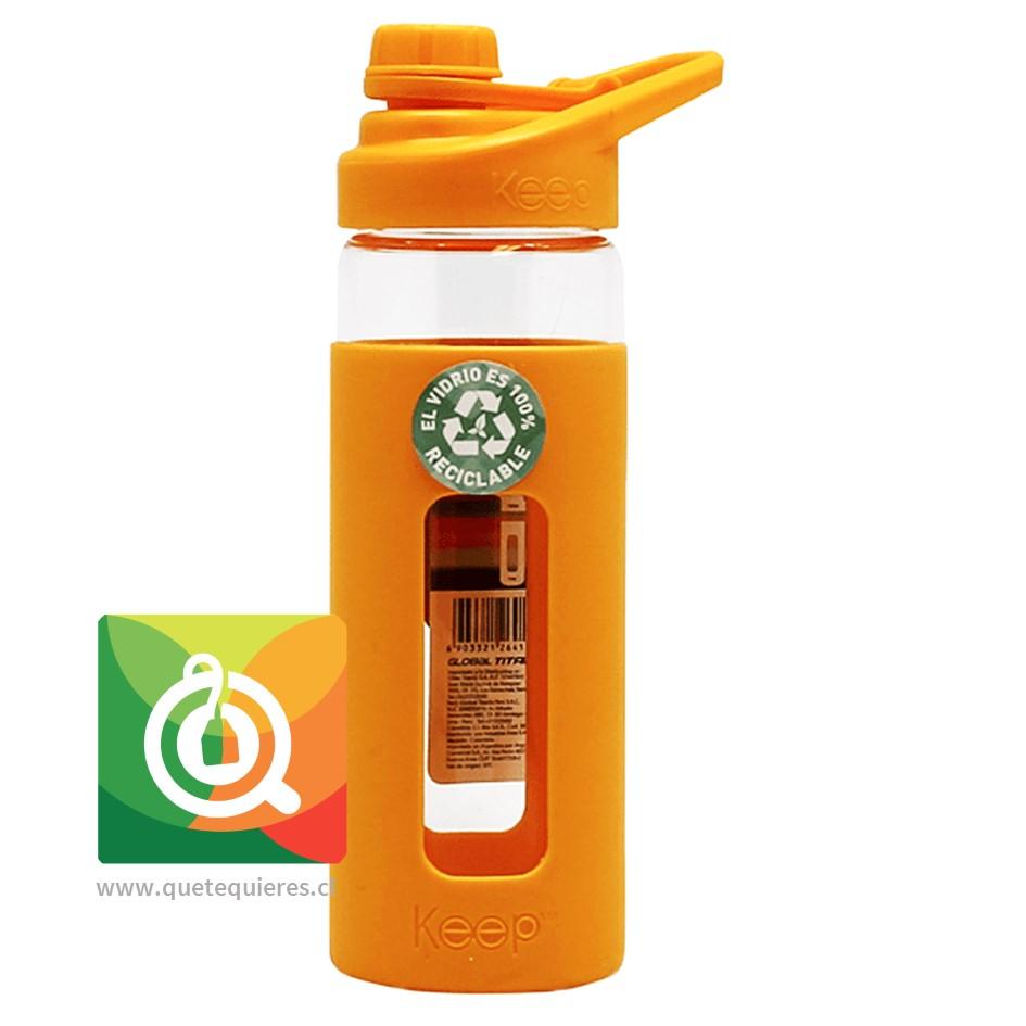 Keep Botella De Vidrio Naranja
