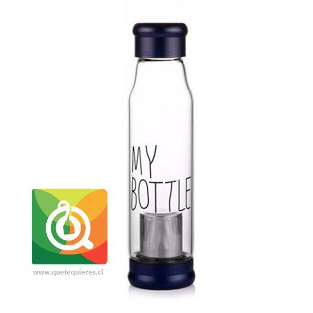 Botella Infusora My Bottle con funda (tapa azul)