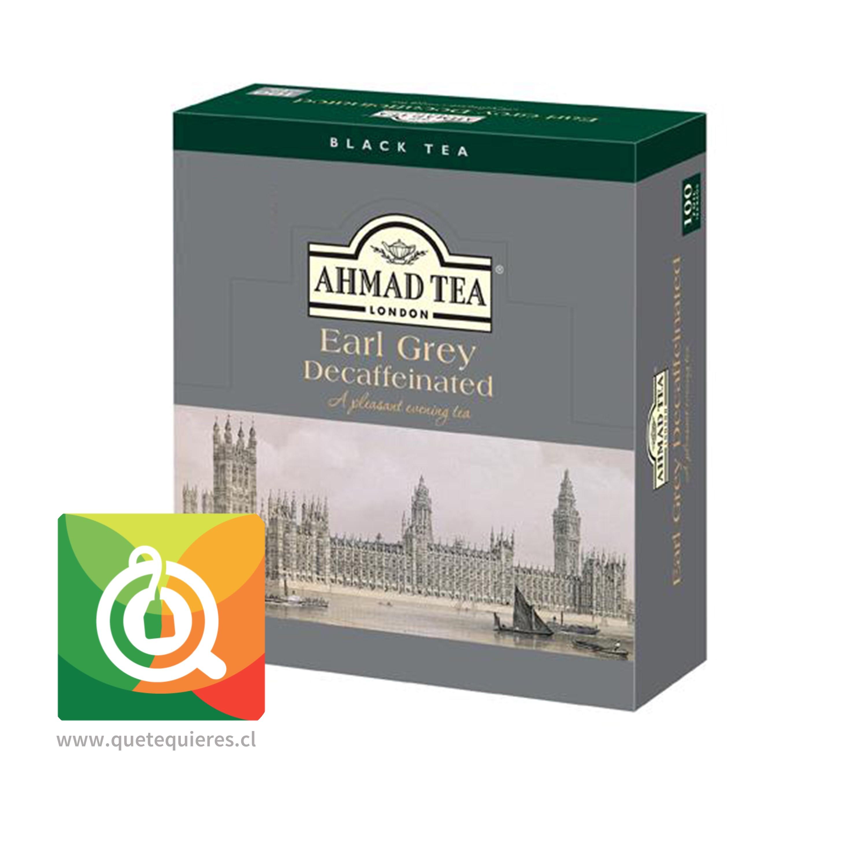 Ahmad Earl Grey Descaffeinated - té Negro Earl Grey Descafeinado