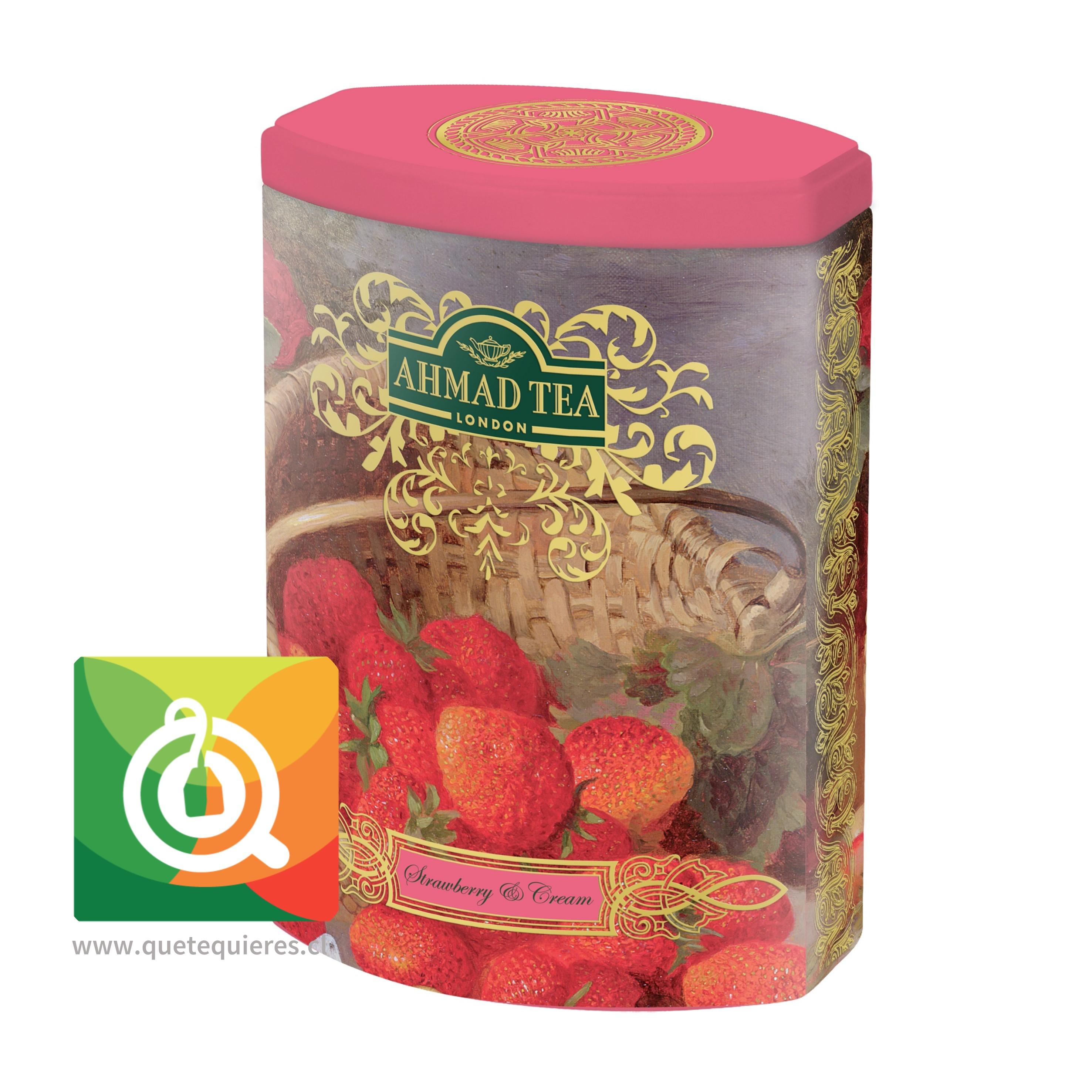 Ahmad Lata con Diseño Té Negro Frutilla y Crema - Ahmad Strawberry & Cream