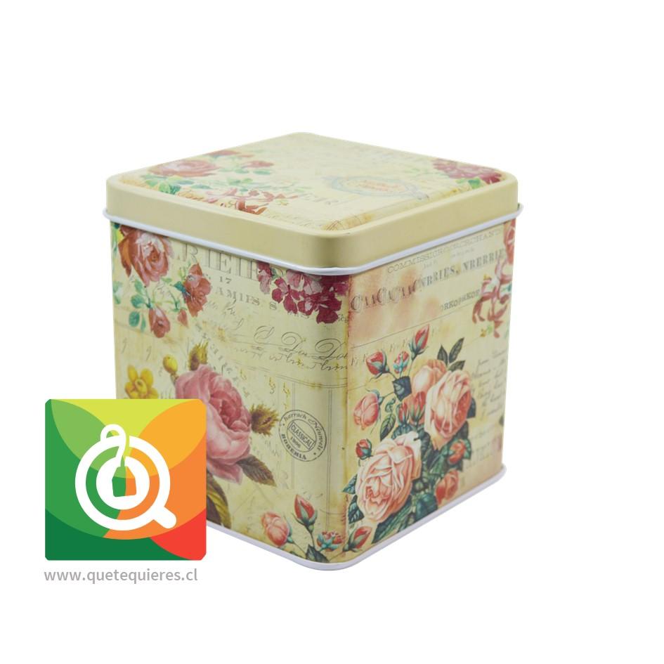 QTQ Latas Para el Té 100 gr. Diseño Amarilla con Rosas