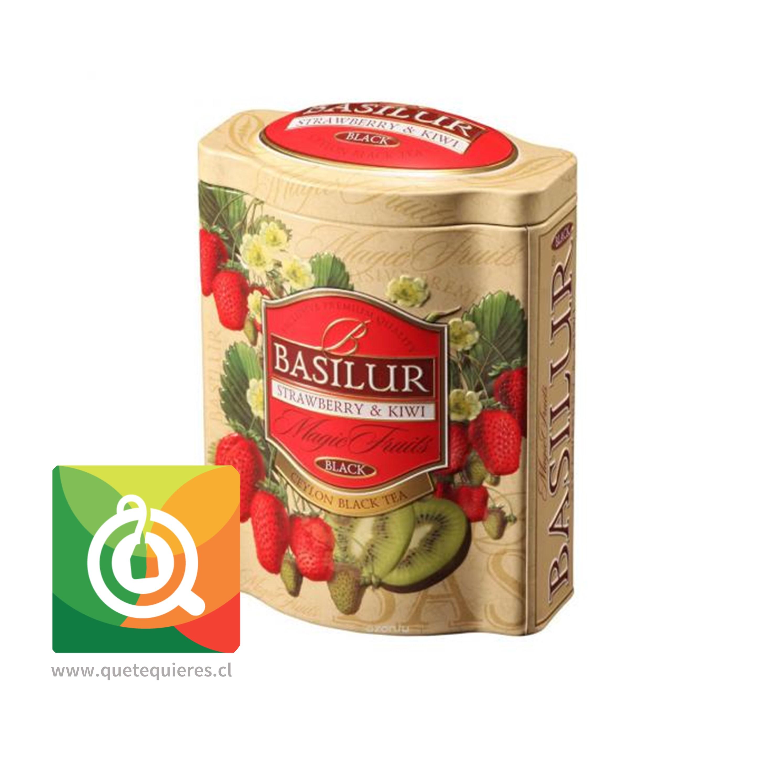 Basilur Lata Té Negro Frutilla y Kiwi - Magic Fruit Strawberry & Kiwi- Image 1