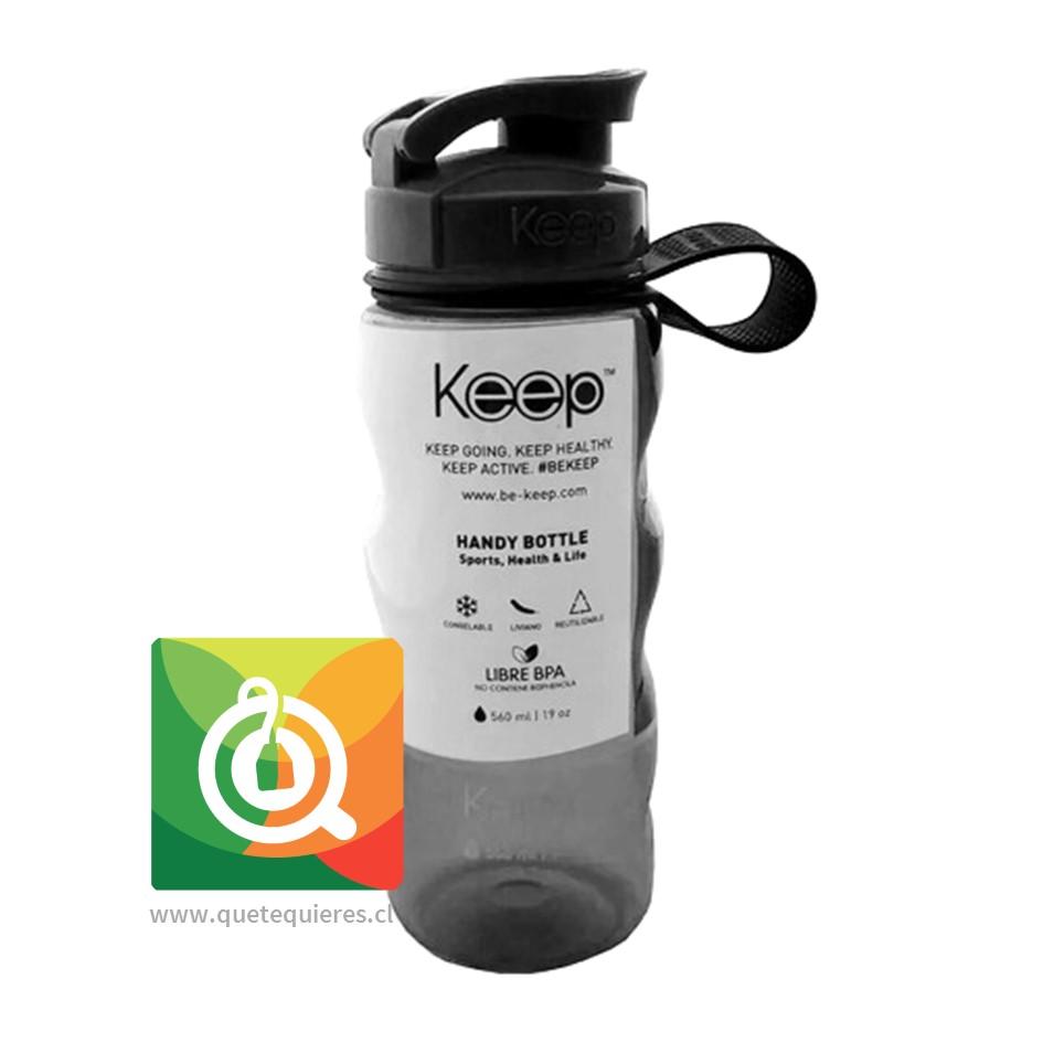 Keep Botella Anatómica Negro
