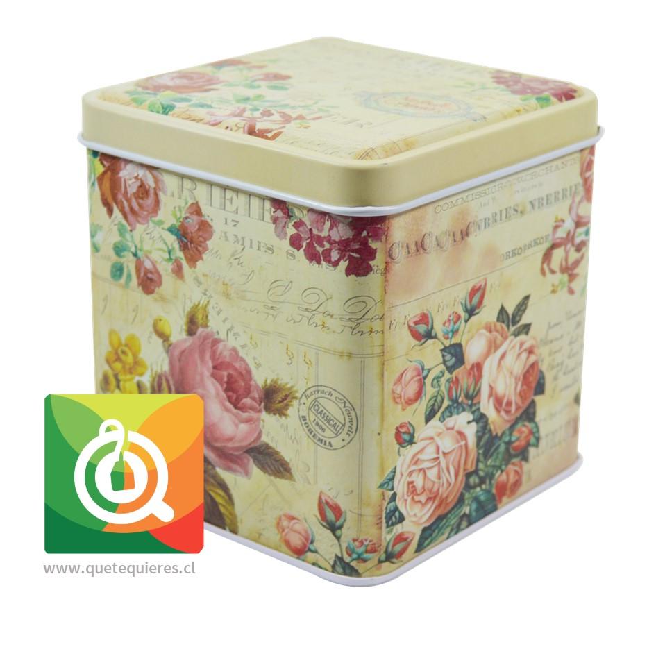 QTQ Latas Para el Té 200 gr. Diseño Amarilla con Rosas