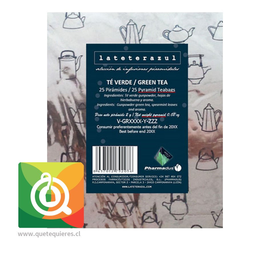 La Tetera Azul Té Verde Menta Orgánico -  Organic Green Tea 25 x 2 gr- Image 3