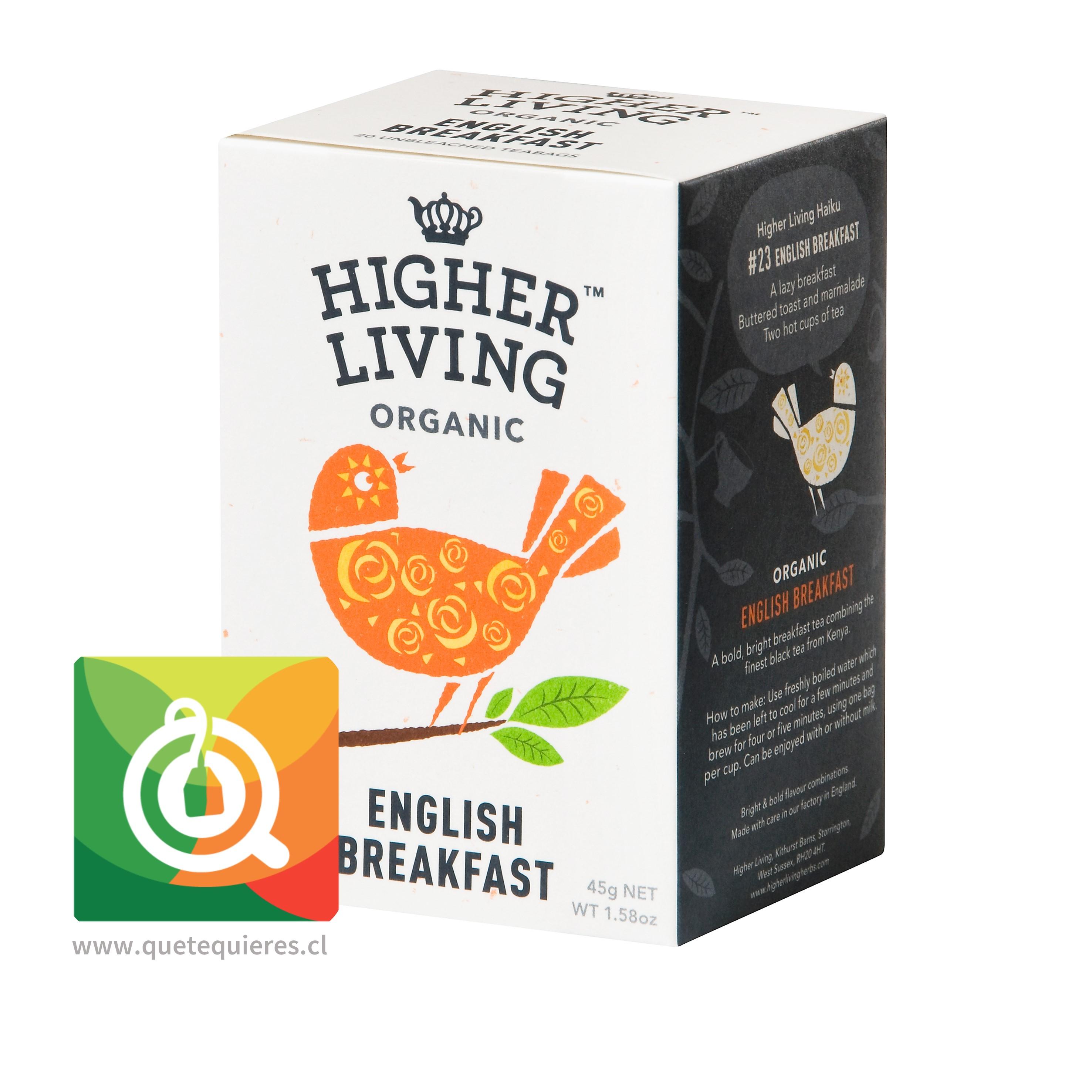 Higher Living Té Orgánico English Breakfast