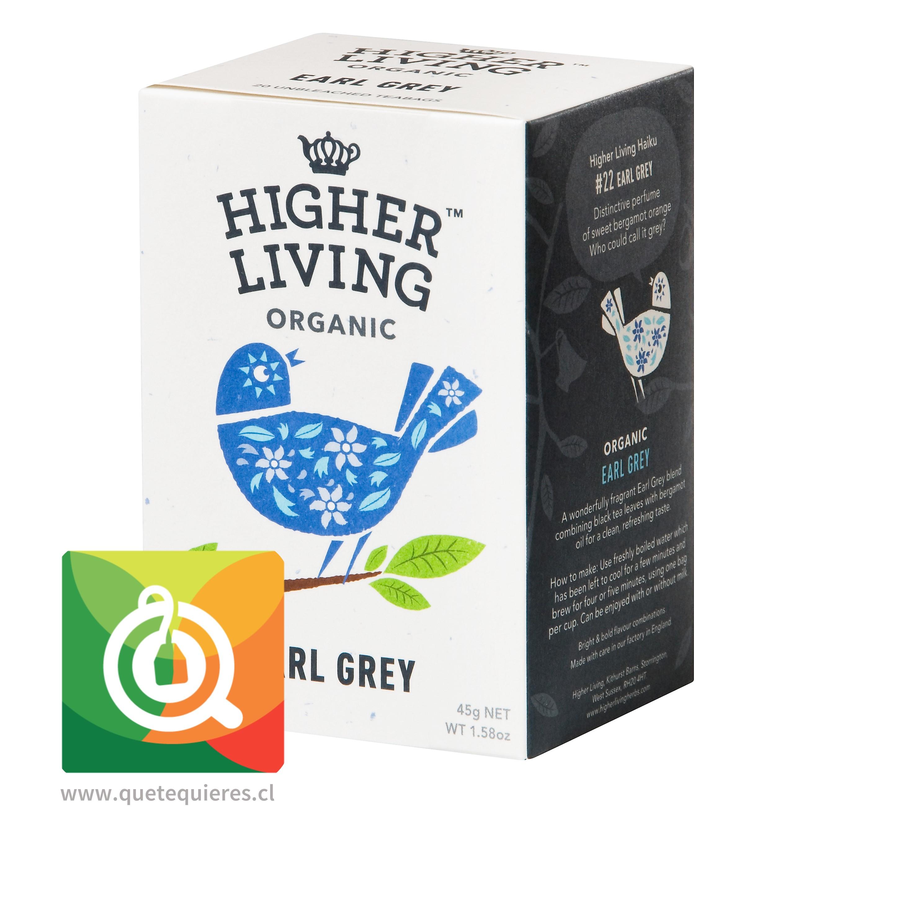 Higher Living Té Orgánico Earl Grey