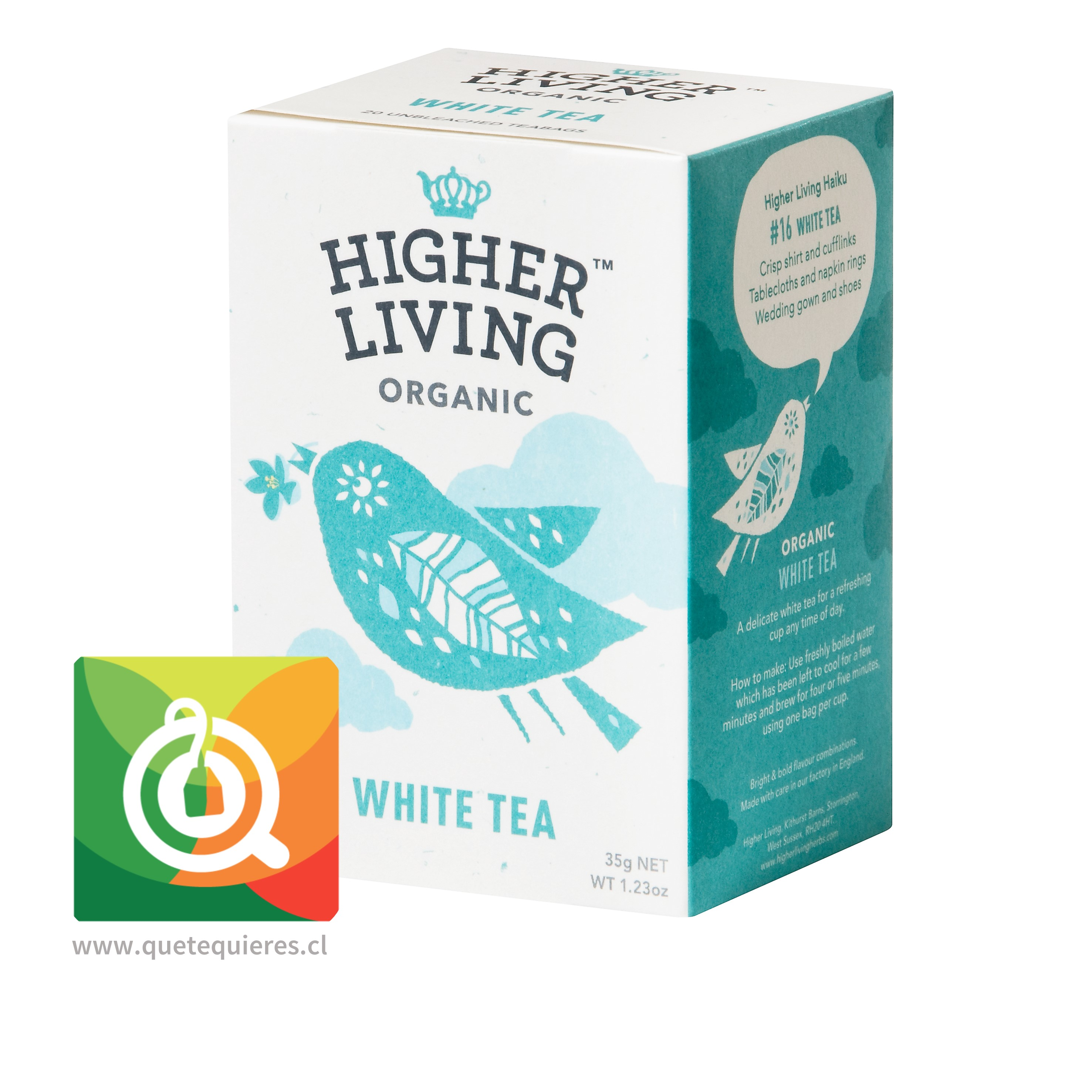 Higher Living Té blanco Orgánico Puro - Organic White Tea