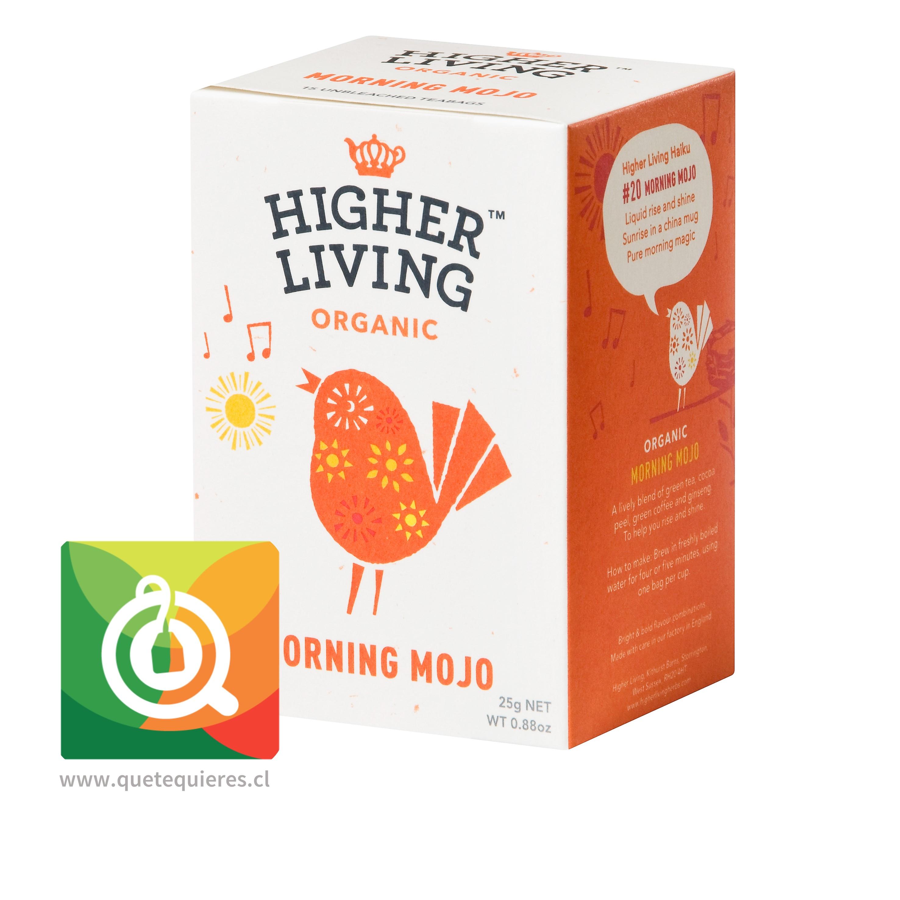 Higher Living Infusión Orgánica Energizante- Organic Morning Mojo