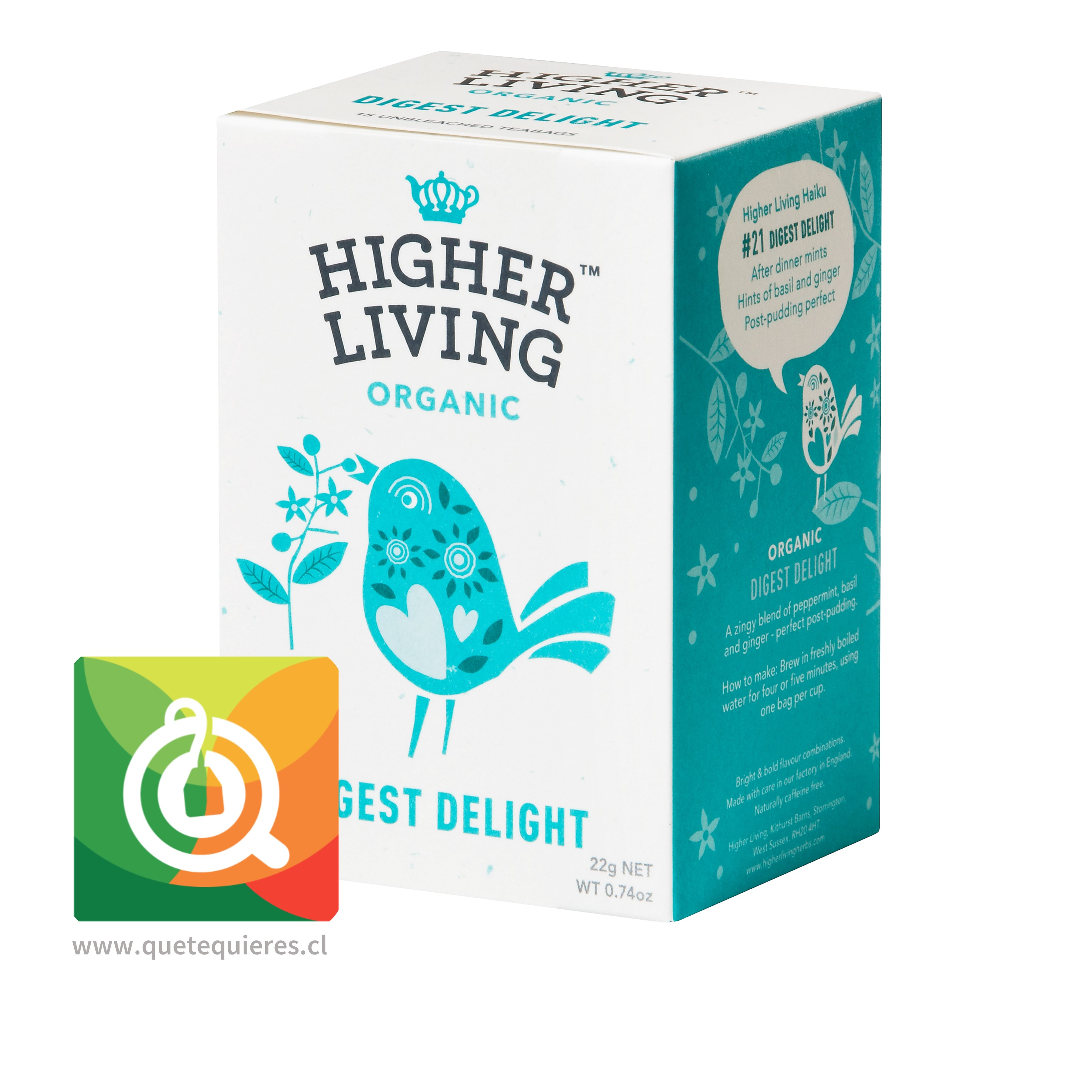 Higher Living Infusión Orgánica Deleite Digestivo- Organic Digest Delight