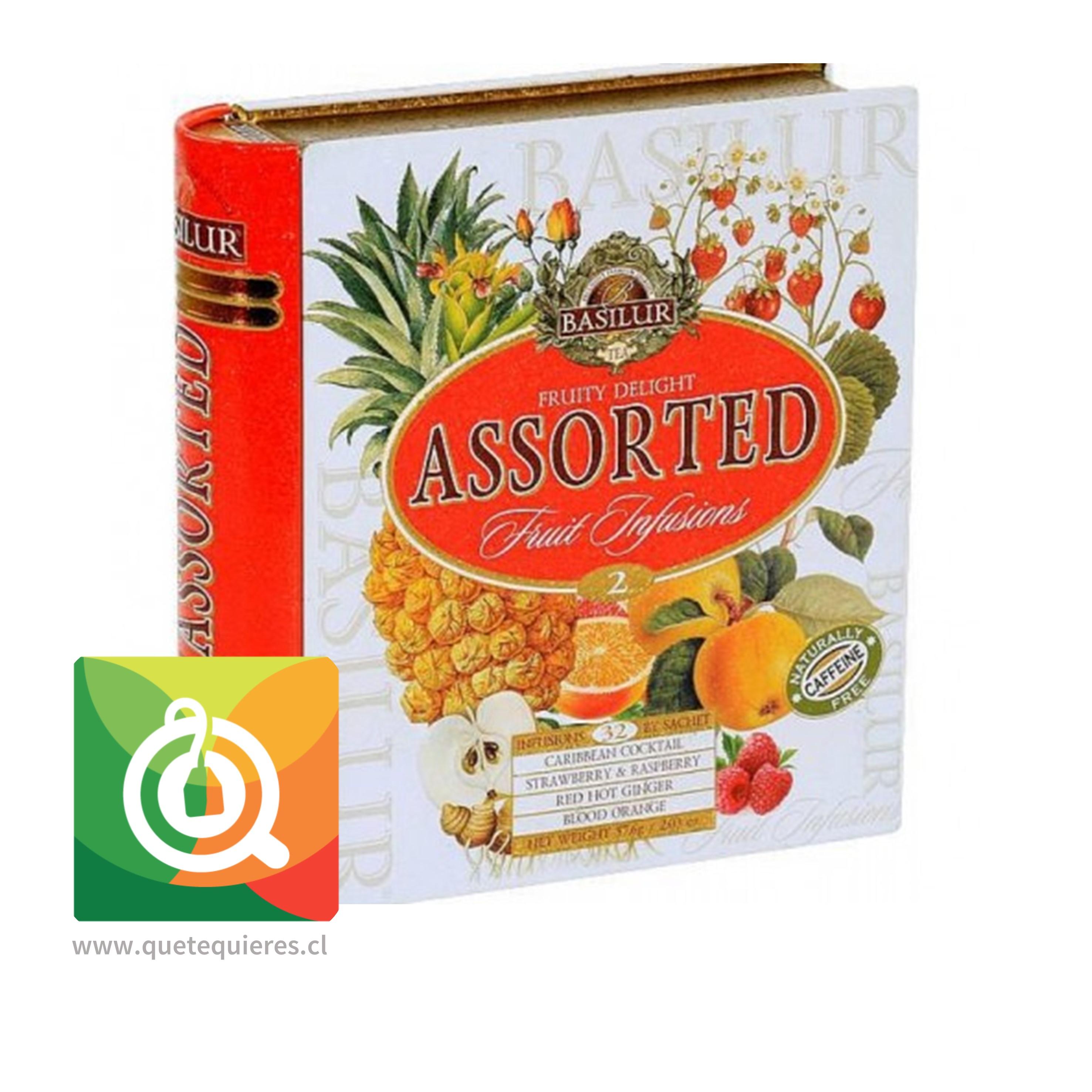 Basilur Libro Té Surtido Infusiones Frutales - Fruit infusion 2 Tea Book Assorted