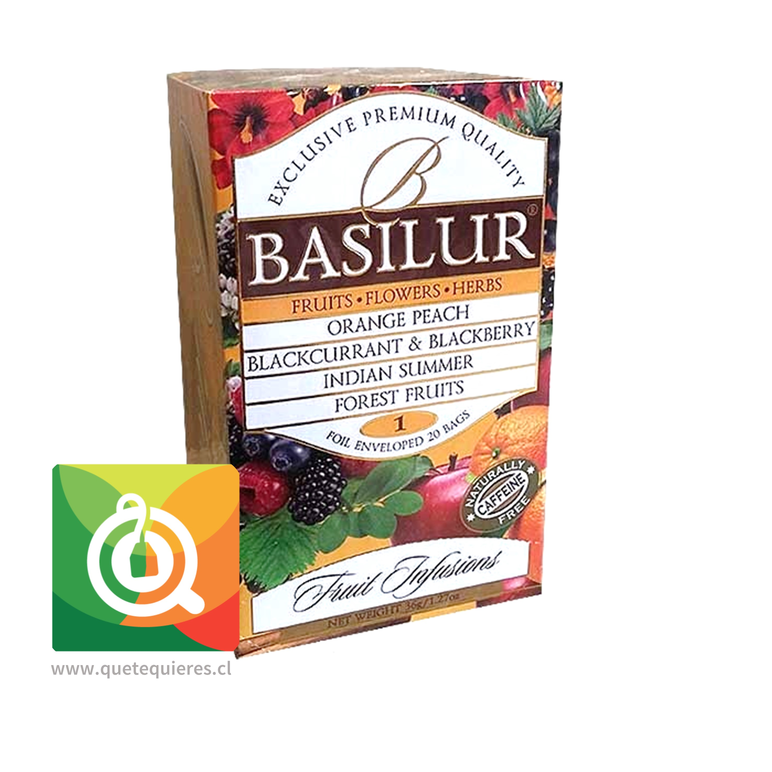 Basilur Surtido de Infusiones Frutales - Fruits, Flowers & Herbs Fruit Infusión vol. 1