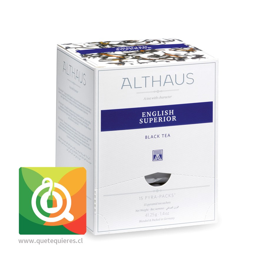 Althaus Té Negro English Superior 15 Pirámides- Image 1