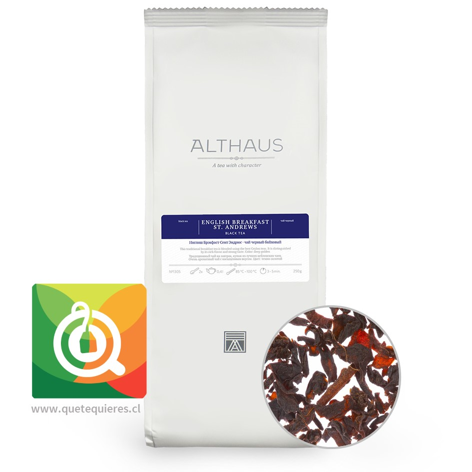 Althaus Té Negro English Breakfast 250 gr - Image 1