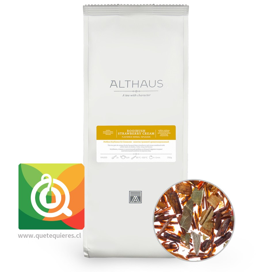 Althaus Infusión Rooibush Strawberry Cream 250 gr - Rooibos- Image 1