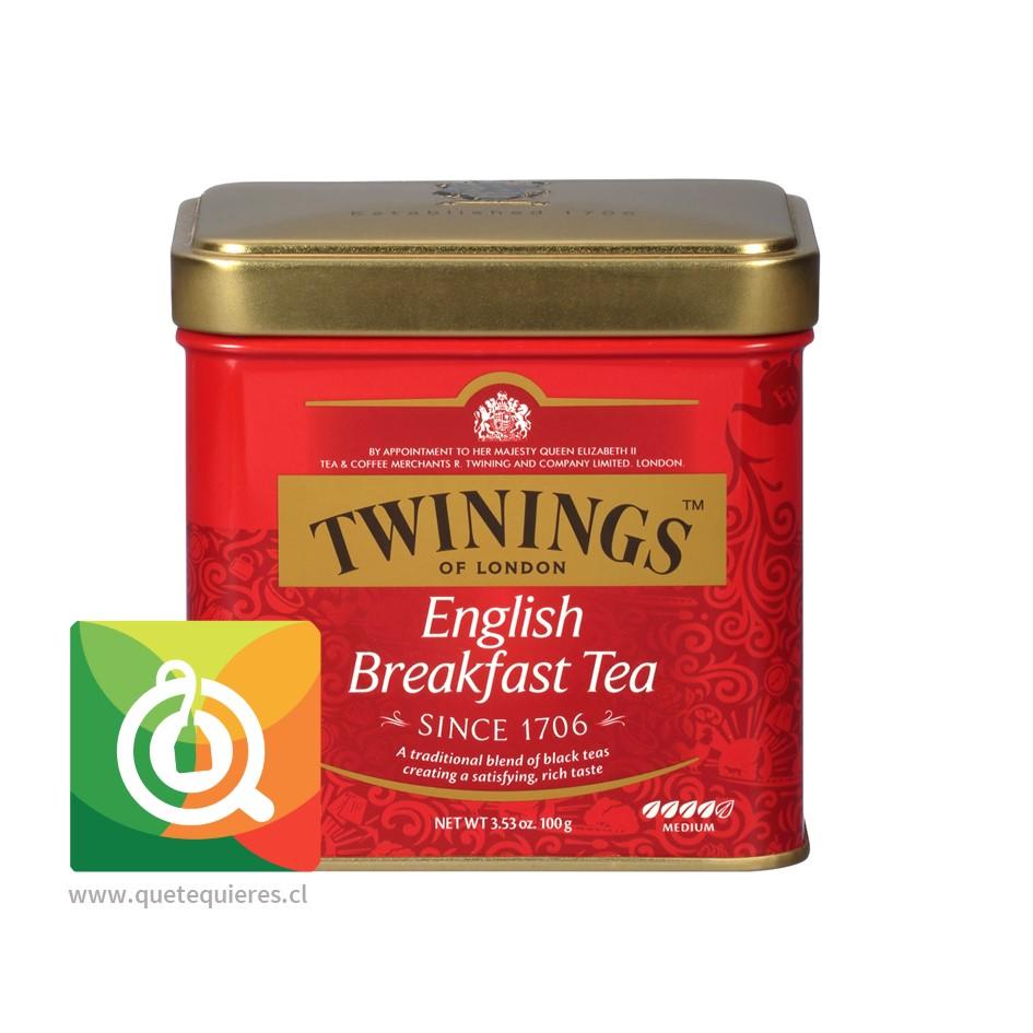 Twinings Té Negro English Breakfast Lata 100 gr