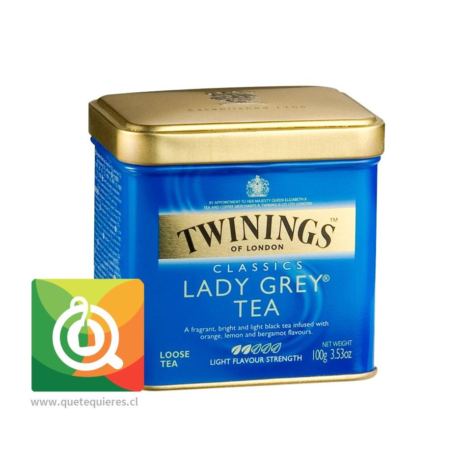 Twinings Té Negro Lady Grey Lata 100 gr