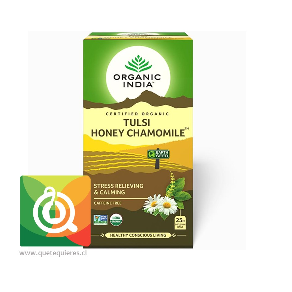 Organic India Tulsi Honey Chamomile- Infusión Orgánica Tulsi miel y Manzanilla
