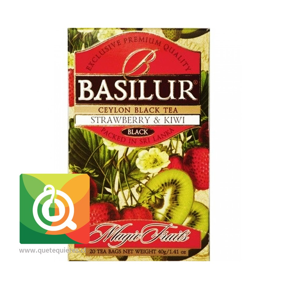 Basilur Té Negro Frutilla y Kiwi - Magic Fruit Strawberry & Kiwi- Image 2