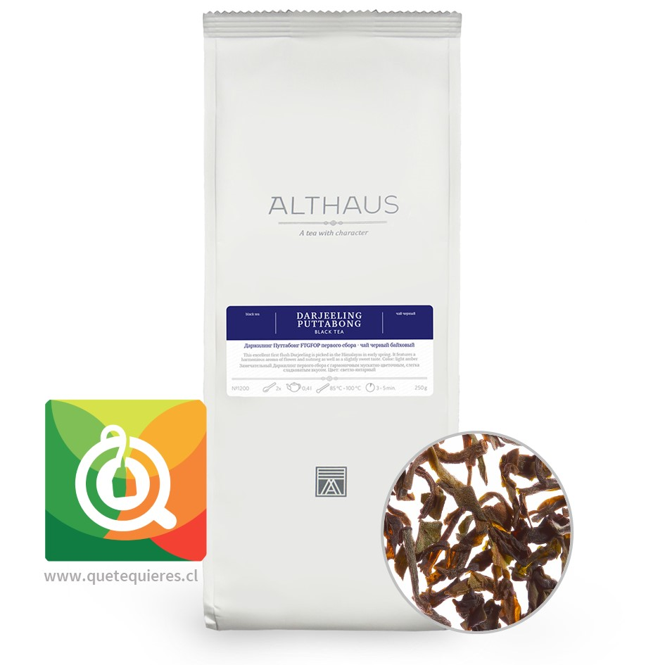 Althaus Té Negro Darjeeling Puttabong 250 gr. - Image 1