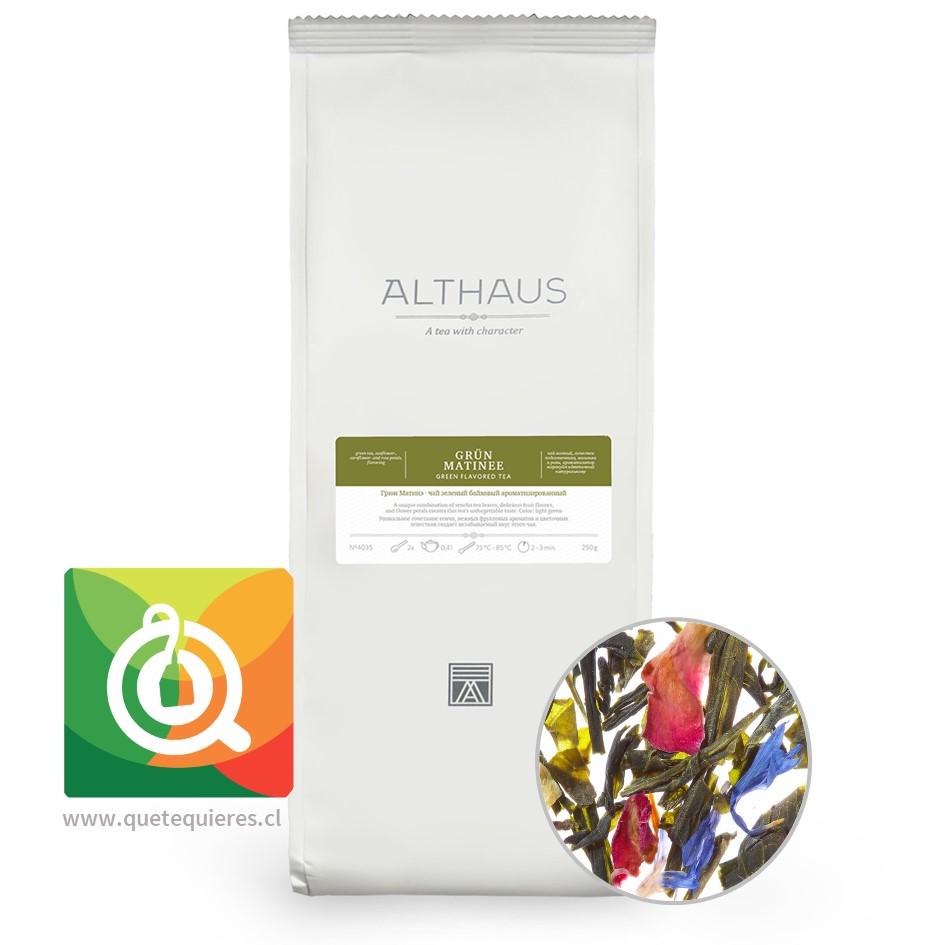 Althaus Té Verde Grun Matinee - Té Verde Pétalos de Flores 250 gr- Image 1
