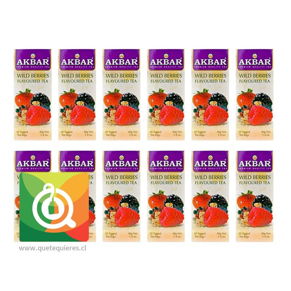 Akbar Té Negro Frutos Rojos (12 unidades)