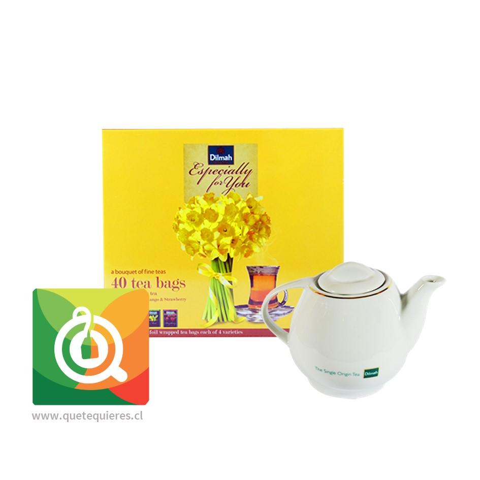Gift Floral + Tetera Melton Dilmah