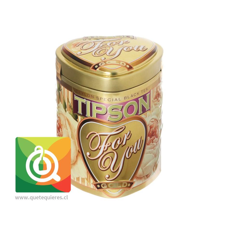 Tipson Four You Pearl -  Lata Té Verde Rosas 75 gr