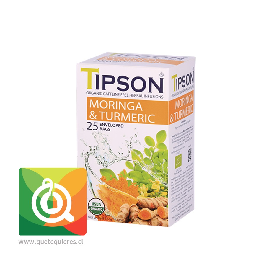 Tipson Infusión Orgánica Moringa Cúrcuma