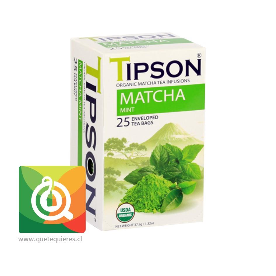 Tipson Tea Matcha Mint - Té Matcha Orgánico con Menta