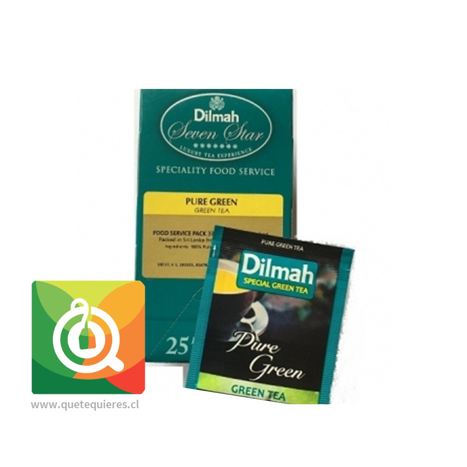 Dilmah Té Verde Puro Foodservice 25 Bolsitas