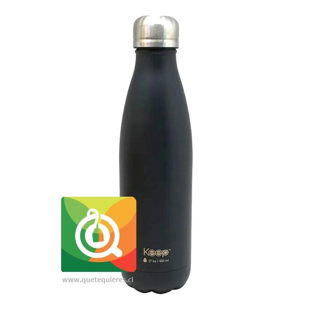 Keep Botella Térmica Colores - 500 ml. Gris-Negro