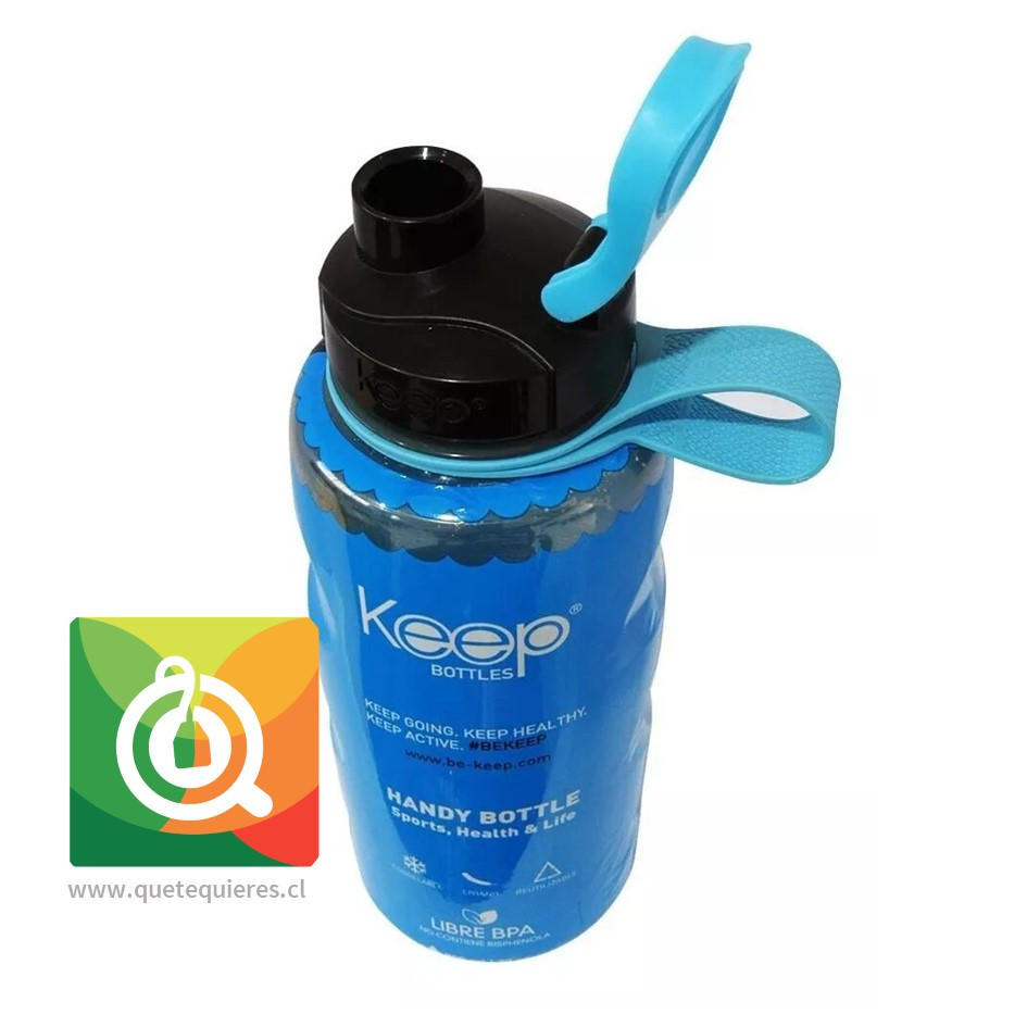 Keep Botella de agua Anatomica 800 ml Azul/Negro- Image 2