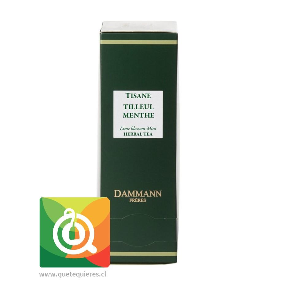 Dammann Infusión Menta - Tilleul Menthe / Lime Blossom Mint 24 Sachets - Image 1