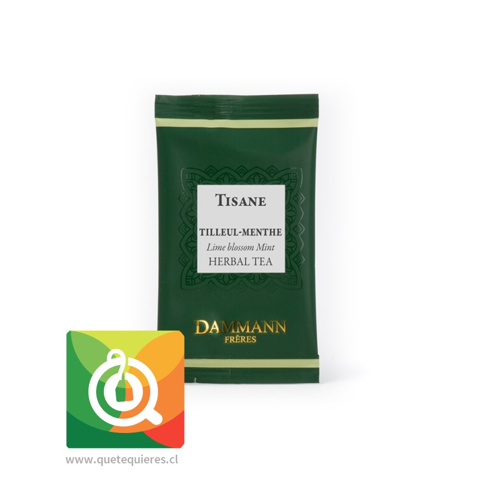 Dammann Infusión Menta - Tilleul Menthe / Lime Blossom Mint 24 Sachets - Image 2
