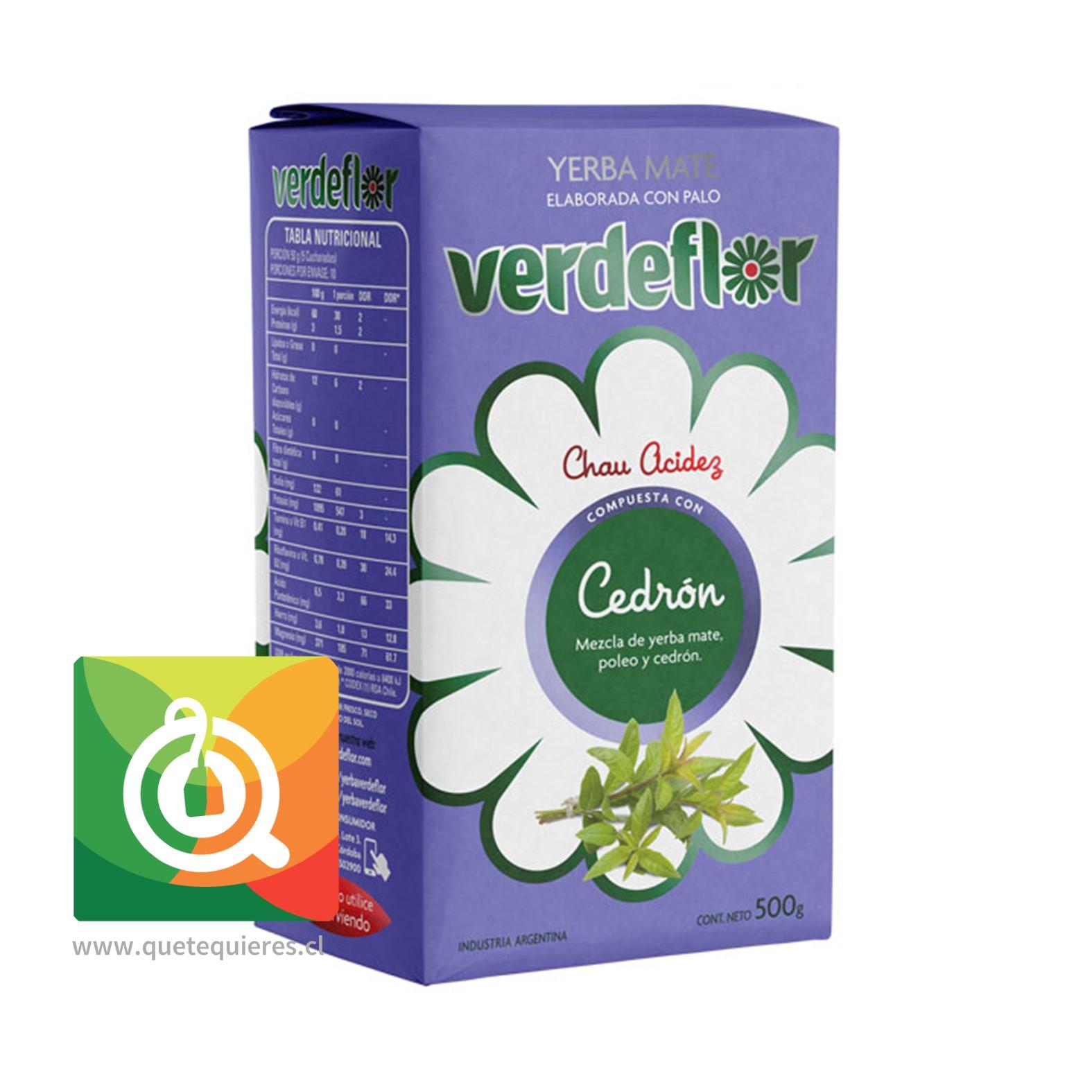 Verdeflor Yerba Mate con Cedrón 500 gr
